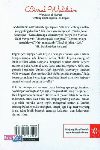 Cover Belakang Buku Birrul Walidain - Wawasan al-Quran tentang Bakti kepada Ibu Bapak