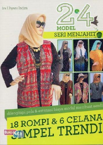 Cover Buku 24 Model Seri Menjahit 18 Rompi & 6 Celana Simpel Trendi