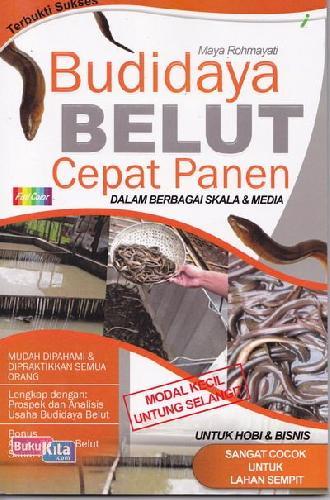 Cover Buku Budidaya Belut Cepat Panen (Full Color)