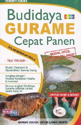 Cover Buku Budidaya Gurame Cepat Panen