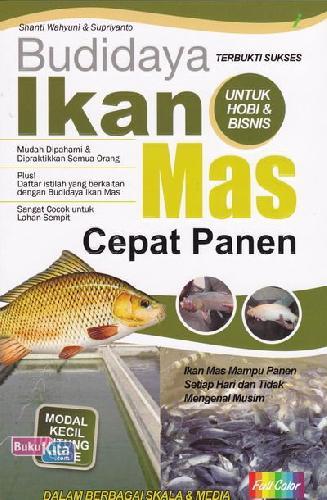 Cover Buku Budidaya Ikan Mas Cepat Panen