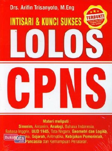 Cover Buku Intisari & Kunci Sukses Lolos CPNS