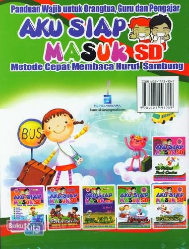 Cover Belakang Buku Aku Siap Masuk SD : Pintar Menulis Huruf Hijaiyah