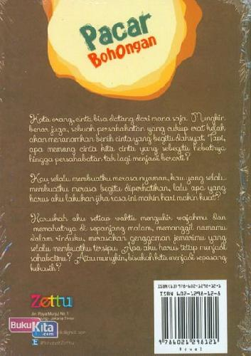 Cover Belakang Buku Pacar Bohongan