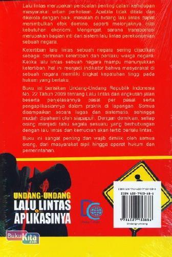 Cover Belakang Buku Undang-Undang Lalu Lintas & Aplikasinya (Edisi Terbaru dan Terlengkap)