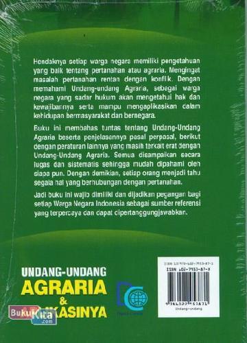 Cover Belakang Buku Undang-Undang Agraria & Aplikasinya (Edisi Terbaru & Terlengkap)