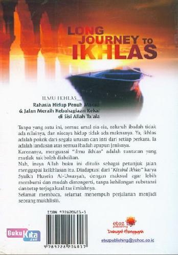 Cover Belakang Buku Long journey To Ikhlas