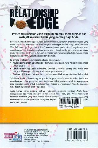 Cover Belakang Buku The Relationship Edge - Rahasia Sukses Menjual dan memengaruhi Orang Lain