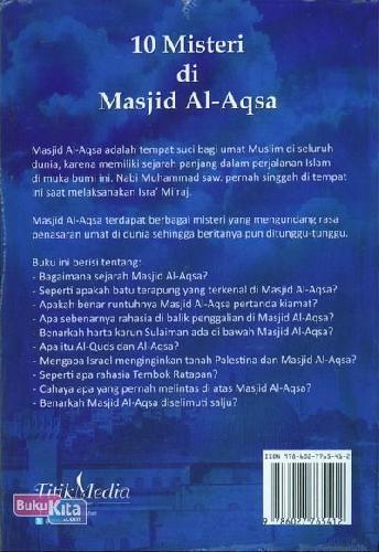 Cover Belakang Buku 10 Misteri di Masjid Al-Aqsa