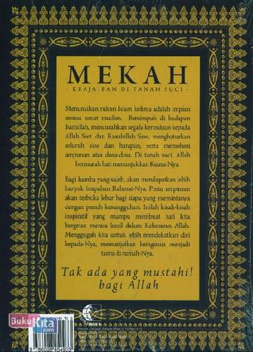 Cover Belakang Buku Mekah Keajaiban Di Tanah Suci