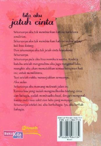 Cover Belakang Buku Bila Aku Jatuh Cinta