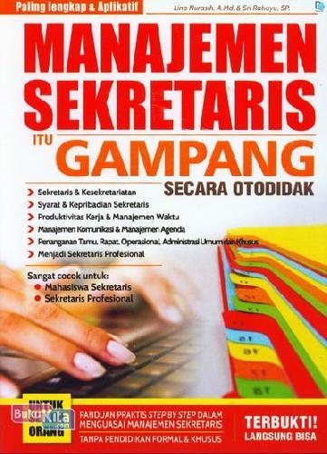 Cover Buku Manajemen Sekretaris Itu Gampang Secara Otodidak