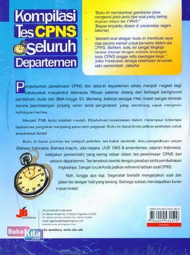 Cover Belakang Buku Kompilasi Tes CPNS Seluruh Departemen