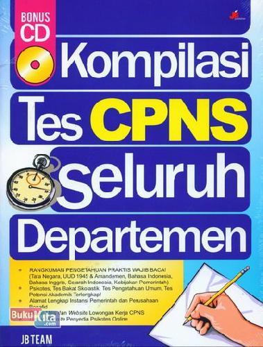 Cover Buku Kompilasi Tes CPNS Seluruh Departemen