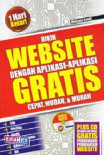 Cover Buku Bikin Website Dengan Aplikasi-aplikasi Gratis + CD