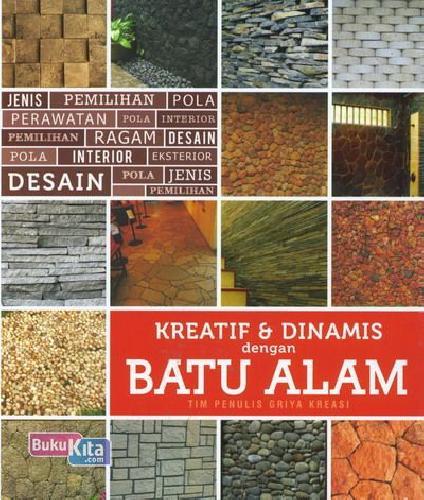 Cover Buku Kreatif & Dinamis dengan Batu Alam