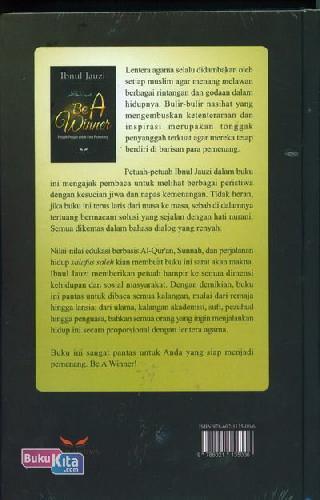 Cover Belakang Buku Be A Winner