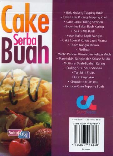Cover Belakang Buku Cake Serba Buah