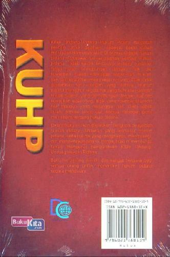 Cover Belakang Buku KUHP (Kitab Undang-Undang Hukum Pidana)