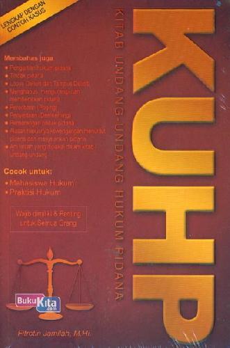 Cover Buku KUHP (Kitab Undang-Undang Hukum Pidana)