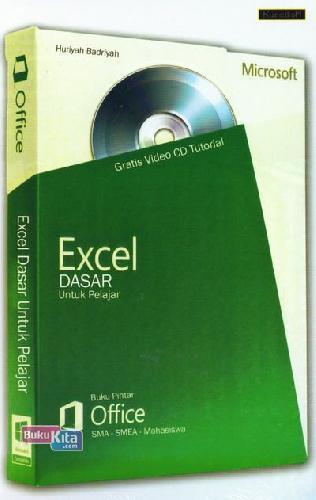 Cover Buku Excel Dasar Untuk Pelajar