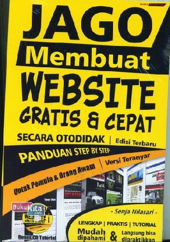 Cover Buku Jago Membuat Website Gratis & Cepat Secara Otodidak - Edisi Terbaru