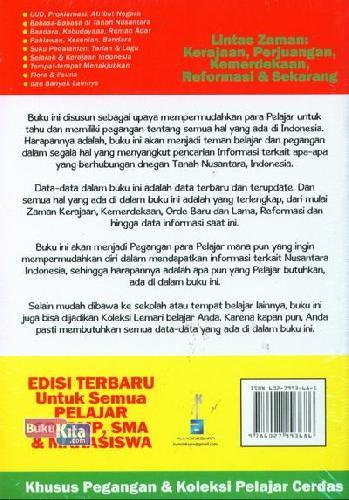 Cover Belakang Buku Ensiklopedia Pelajar Indonesia (Edisi Terbaru untuk Semua Pelajar)