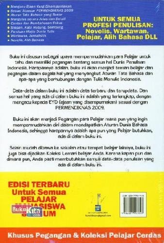 Cover Belakang Buku Ensiklopedia Tata Bahasa Indonesia
