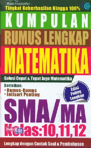 Kumpulan Rumus Lengkap Matematika Sma Ma Kelas 10 11 12