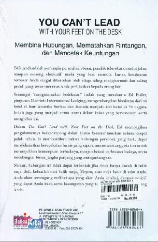 Cover Belakang Buku You Can't Lead With Your Feet On The Desk