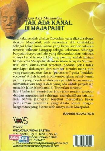 Cover Belakang Buku Tak Ada Kanal Di Majapahit