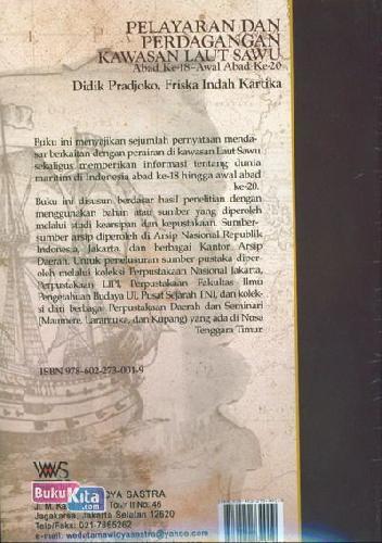 Cover Belakang Buku Pelayaran Dan Perdagangan Kawasan Laut Sawu (Abad Ke018-Awal Abad Ke-20)