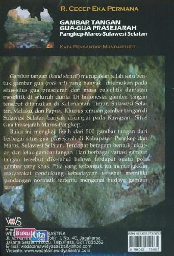 Cover Belakang Buku Gambar Tangan Gua-Gua Prasejarah