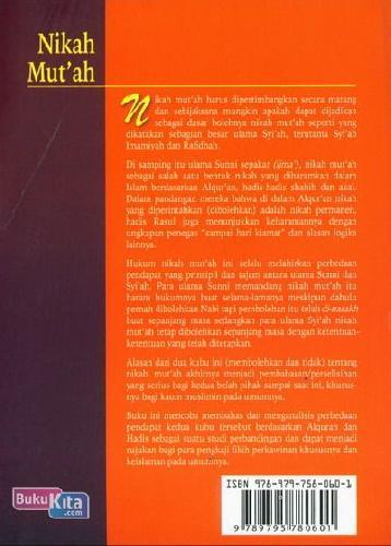 Cover Belakang Buku Nikah Mu'tah : Analisis Perbandingan Hukum Antara Sunni & Syi'ah
