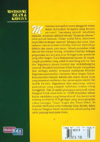 Cover Belakang Buku Misterisme Islam & Kristen : Sejarah Awal dan Perkembangannya