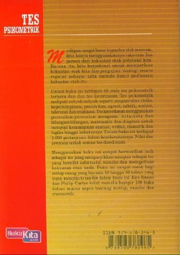 Cover Belakang Buku Tes psikometrik