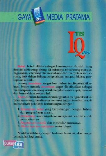 Cover Belakang Buku Tes IQ Anda 2