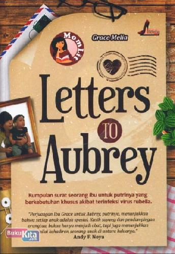 Cover Buku Letters To Aubrey