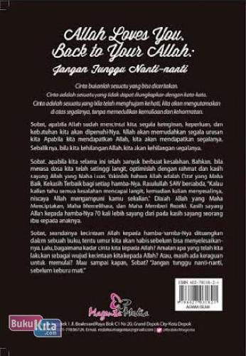 Cover Belakang Buku Allah Loves You. Back To Your Allah