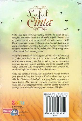 Cover Belakang Buku Lafal CInta