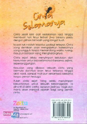Cover Belakang Buku Cinta Selamanya