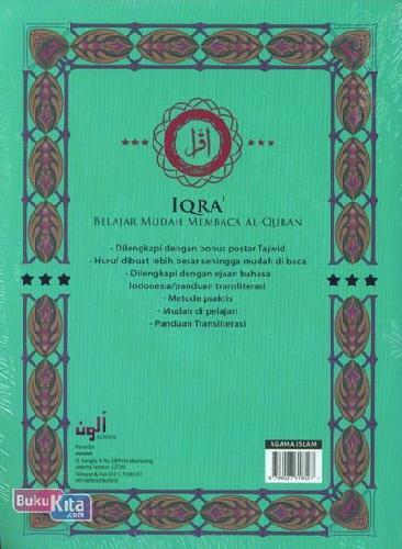 Cover Belakang Buku IQRA Belajar Mudah Membaca Al-Quran