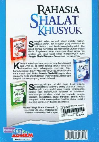 Cover Belakang Buku Rahasia Shalat Khusyuk (Trilogi Shalat Khusyuk)