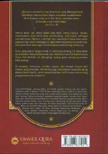 Cover Belakang Buku Dosa-Dosa Besar Versi TAHQIQ