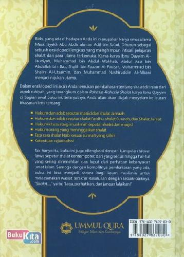 Cover Belakang Buku Ensiklopedi Shalat (Kumpulan Karya Ulama Terkemuka)
