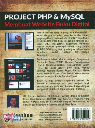 Cover Belakang Buku Project PHP & MySQL : Membuat Website Buku Digital