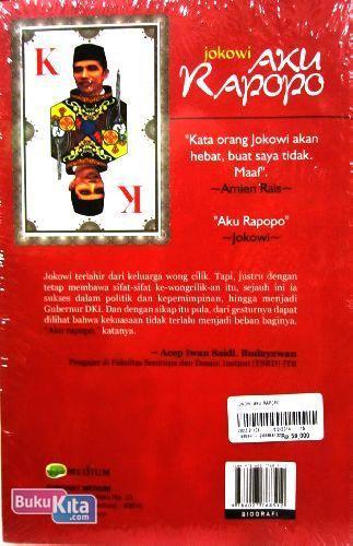 Cover Belakang Buku Jokowi Aku Rapopo