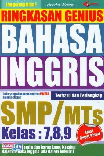 Cover Buku Ringkasan Jenius Bahasa Inggris SMP/MTS Kelas: 7,8,9