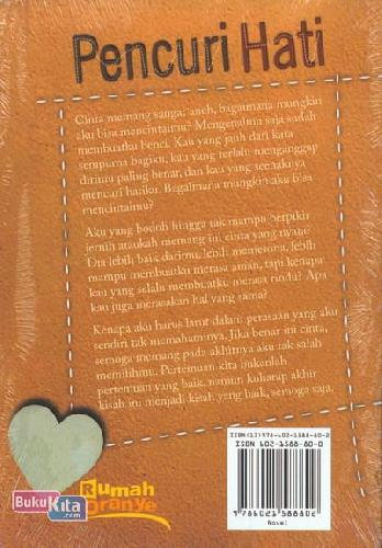 Cover Belakang Buku Pencuri Hati