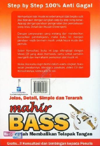 Cover Belakang Buku Sekali Baca Langsung Inget Mahir Bass